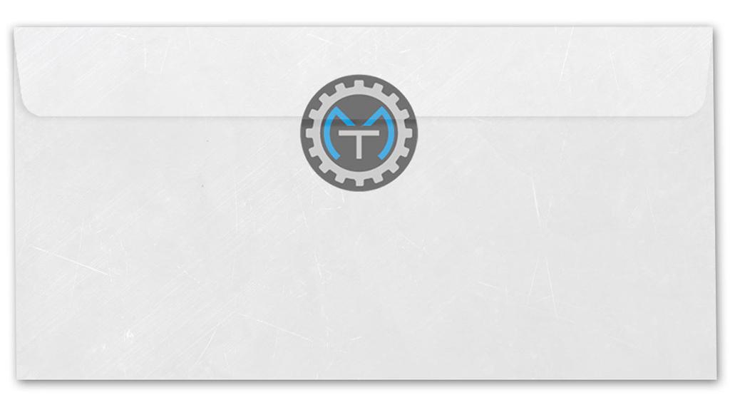 busta lettera retro