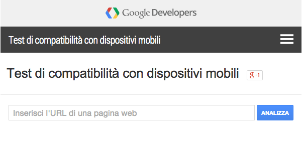 Lo strumento di Google per il test di compatibilità di un sito con dispositivi mobili