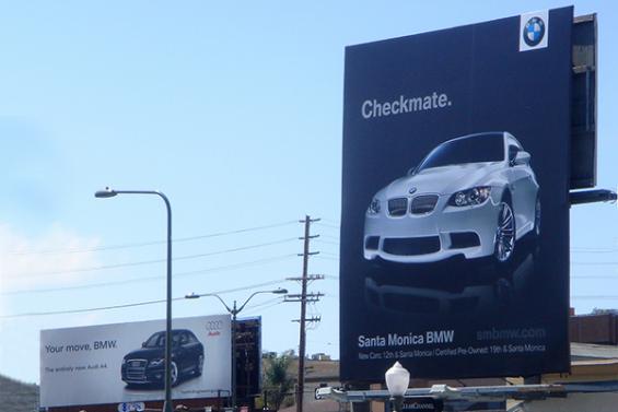 Vi piacciono le brand wars? Ecco dieci campagne pubblicitarie senza esclusione di colpi! Qui Audi Vs BMW