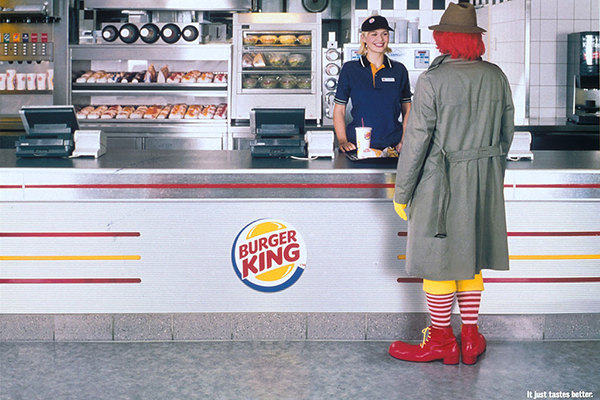 10 duelli fra campagne pubblicitarie, qui Burger King Vs McDonalds