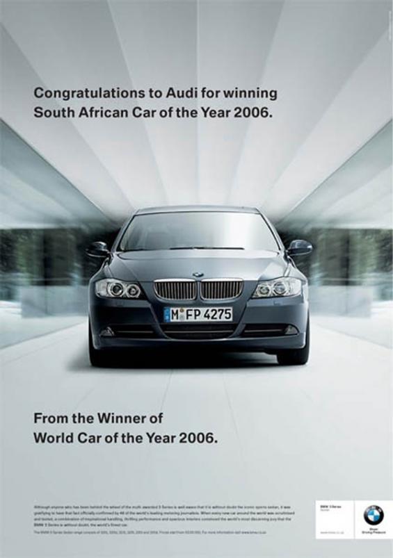 Vi piacciono le brand wars? Ecco dieci campagne pubblicitarie senza esclusione di colpi! Qui sempre Audi Vs BMW