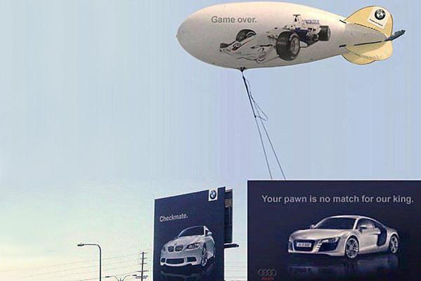 Vi piacciono le brand wars? Ecco dieci campagne pubblicitarie senza esclusione di colpi! Qui ancora Audi Vs BMW